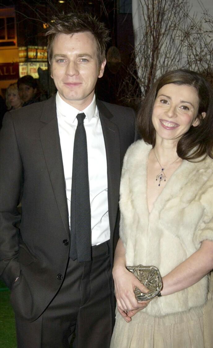 STORT VALG: Ewan McGregor og kona Eve Mavrakis møttes da Ewan var midt i 20-årene. Her fra premieren av «Big fish» i 2004, samme år som Jamyan ble adoptert FOTO: NTB