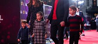 William og Kate tok med barna på rød løper