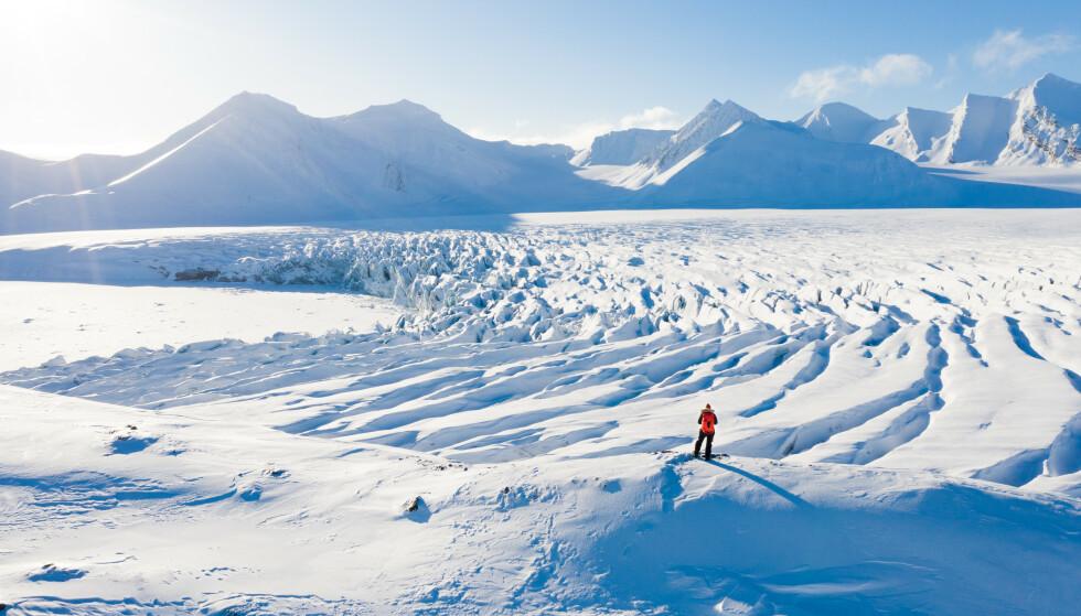 ISBRE: - Jeg liker å ta bilder av isbreer, men det er ikke lett. FOTO: Privat