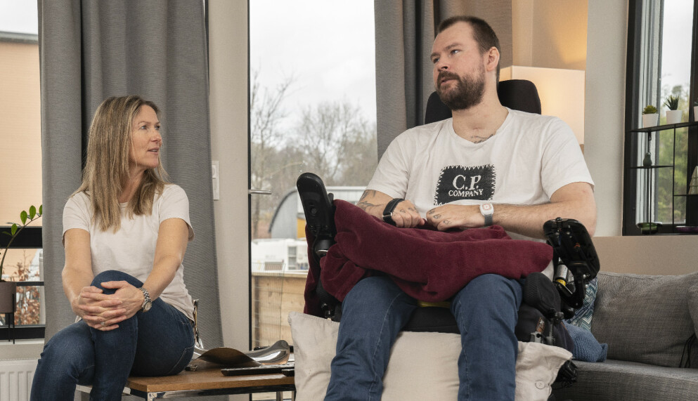 MØTES IGJEN: NRK-programleder Helene Sandvig har tenkt mye på Michael Nuth etter at hun møtte ham på rehabilitering i 2017. Foto: Espen Solli