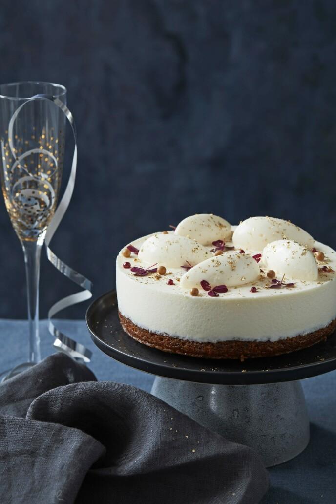 Denne kaken er både søt og syrlig – og helt perfekt til en festaften. FOTO: Stine Christiansen