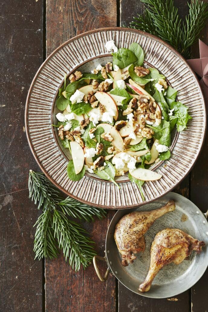 Andelår er raskt å lage og er perfekt til middag en av juledagene før nyttår. Tips! Bruk kyllinglår hvis du ikke får tak i and. FOTO: Winnie Methmann