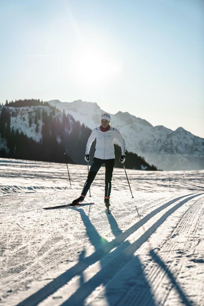 Drømmedag med glitrende snø og god glid! Utstyr og ski fra Swix.