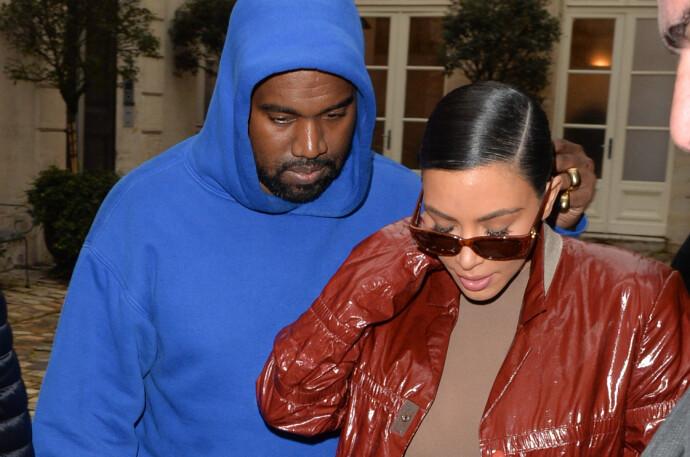 TØFFE TAK: Det har ikke vært noen hemmelighet at denne duoen har slitt det siste året. Dét har nemlig Kanye West selv delt i flere av sine mange Twitter-tirader. FOTO: NTB