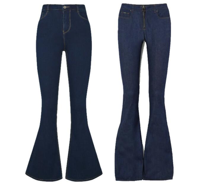 BILLIG VS DYR: Jeansen til venstre fra Missguided via Zalando og koster kroner 299. Jeansen til høyre er fra Tom Ford og koster 11000 kroner.