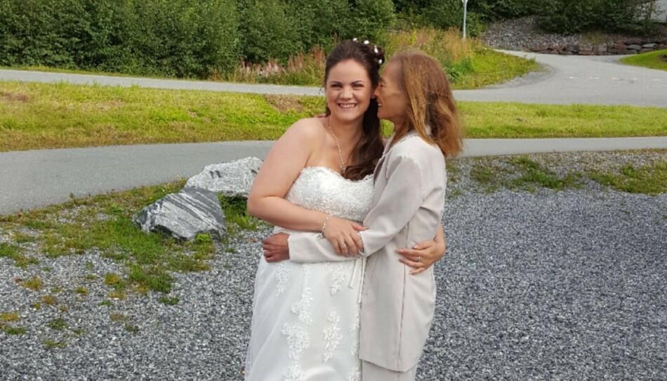 MAMMAS JENTE: Tinas mamma, May-Bente, slet med spiesforstyrrelser helt til hun døde av dem. Det var Tina mye sint for i oppveksten. FOTO: Privat
