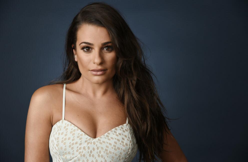 HÅRTAP ETTER FØDSEL: Hollywood-stjernen Lea Michele er åpen på sosiale medier om at hun har opplevd hårtap etter at hun på sensommeren i fjor fødte sønnen Ever. Snart faller de lange lokkene. FOTO: NTB