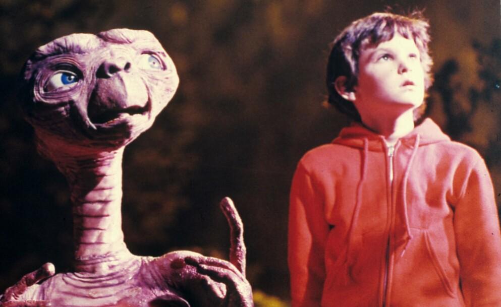 KLASSIKER: «E.T.» – eller «E.T. the Extra Terrestrial» som er den fulle tittelen – kom ut i 1982. FOTO: NTB