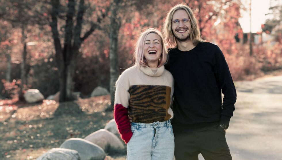 MÅTTE FORTELLE: Stine og Jakob var på en romantisk ferietur da hun fikk herpesutbrudd etter 14 år uten. FOTO: Astrid Waller