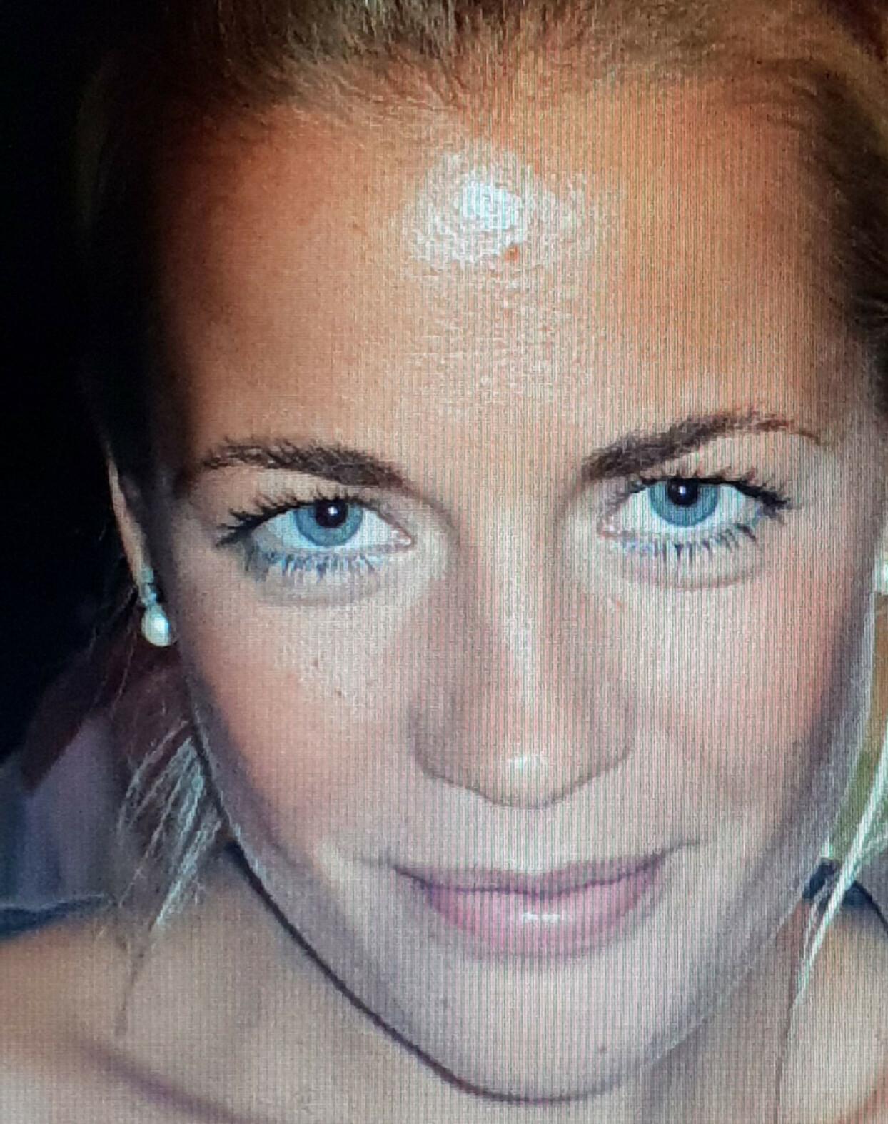 LIVSGLAD: Christina før operasjonen. En ung kvinne med yrkesliv og ekteskap foran seg. FOTO: Privat