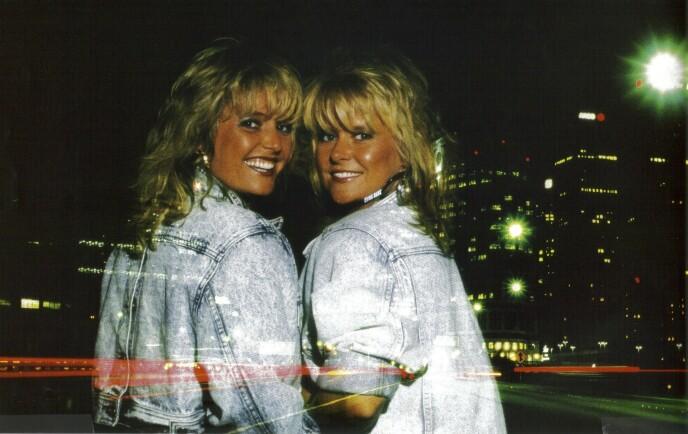 Sammen med Elisabeth «Bettan» Andreassen i den elleville Bobbysocksperioden midt på 1980-tallet. FOTO: Privat