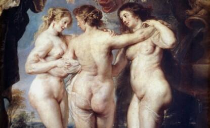 RUNDE FORMER: Maleren Peter Paul Rubens er blant annet kjent for å male bilder av nakne kvinner med runde mager. FOTO: NTB Scanpix