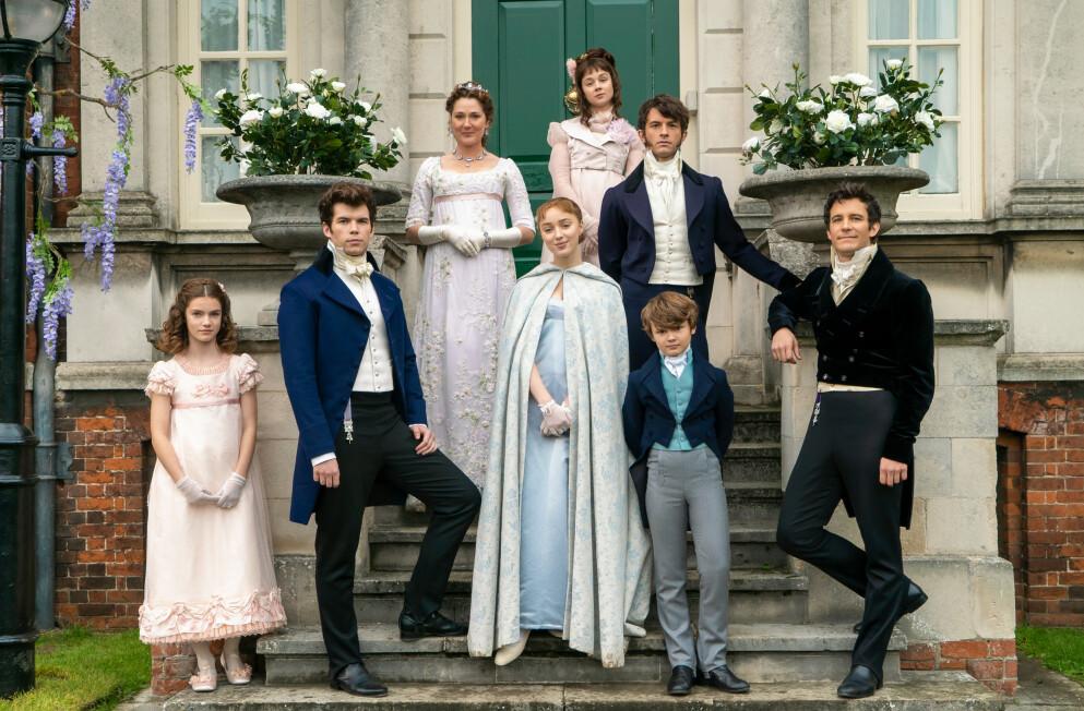 BRIDGERTON: Netflix-serien om familien Bridgerton har tatt helt av! Foto: NTB/SplashNews.com