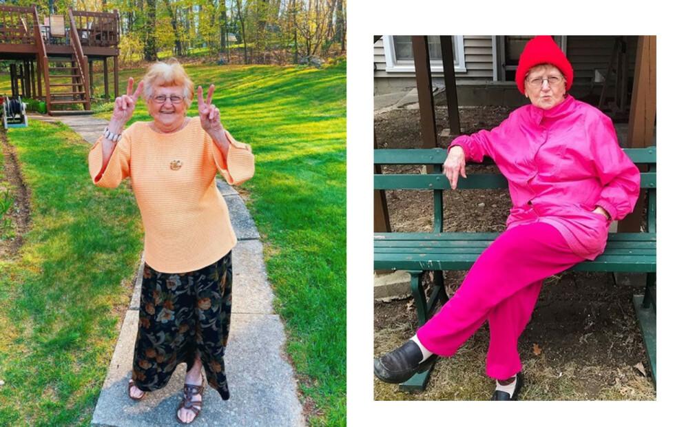 GRANDMA DRONIAK: Lillian Droniak (90) har over 1,7 millioner følgere på Tik Tok. Foto: Skjermdump fra Instagram