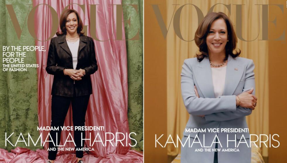 VOGUE-COVER: USAs visepresident Kamala Harris' Vogue-cover har skapt mange reaksjoner. Faksimile: Vogue