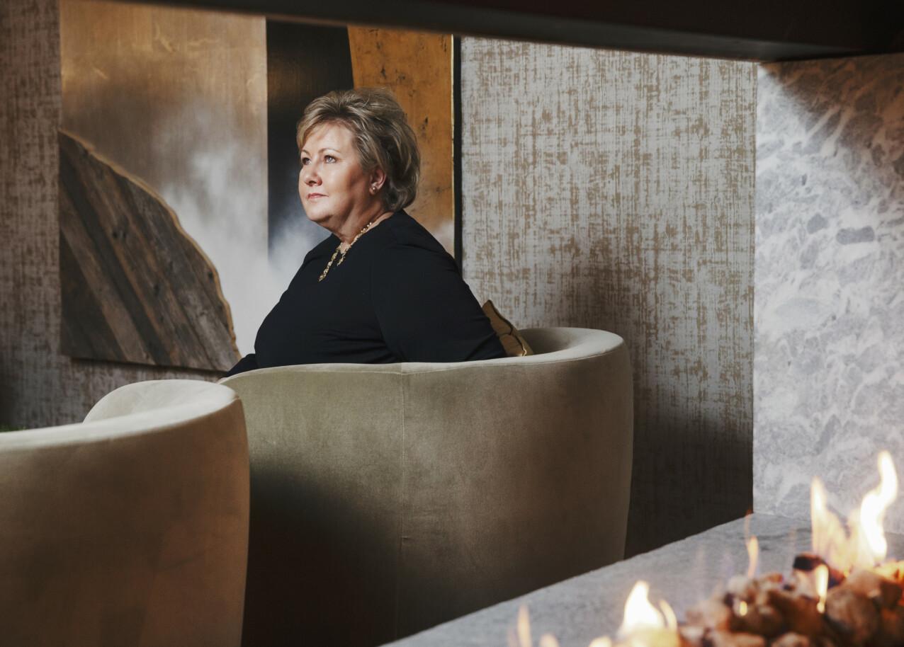 STATSMINISTER: Erna Solberg (H) har vært statsminister i Norge siden oktober 2013. FOTO: Yvonne Wilhelmsen
