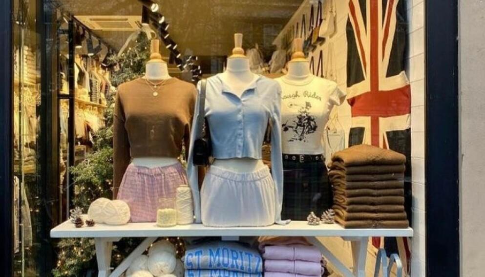 BRANDY MELVILLE: Den populære kjedebutikken kan motta verstingprisen Gullbarbie. Foto: Skjermdump fra Instagram @brandymelvilleeu