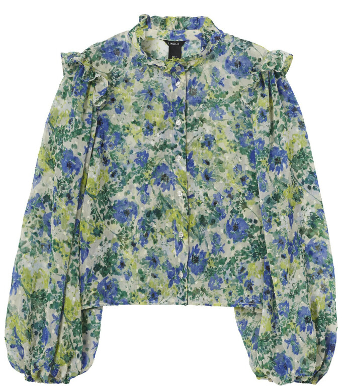 Blomstrete bluse (kr 300, Lindex).