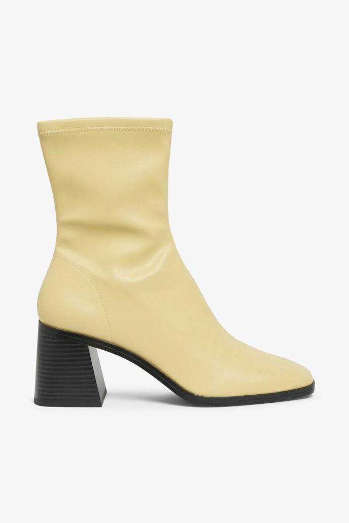 Støvletter med kraftig hæl (kr 450, Monki).