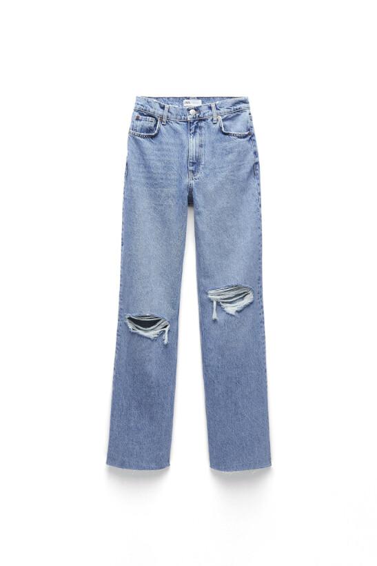 Hullete jeans (kr 450, Zara),