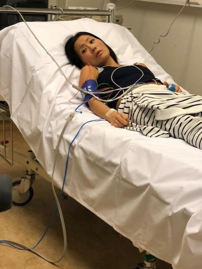 Rett før transplantasjonen, på akuttmottaket på Rikshospitalet. FOTO: Liv Heidi Lie-Bjelland