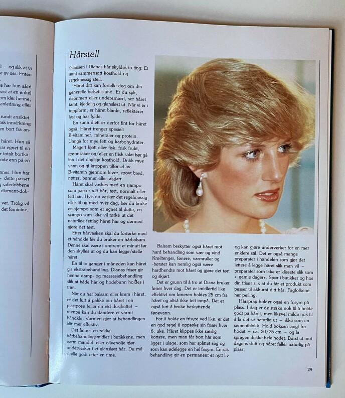 HÅRPLEIE: Det er ingen tvil om at Dianas hår vært populært. Foto: Privat