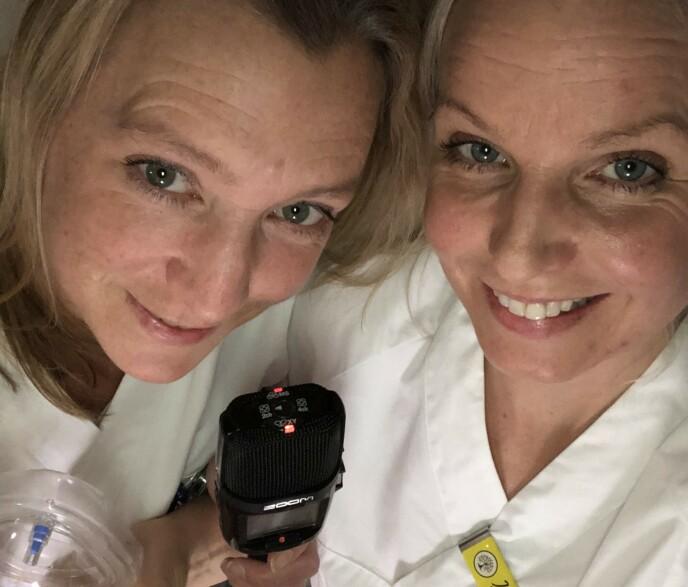 PODCAST MED JORDMØDRE: Janicke Jordbakke og Jenny Jonsson har startet en egen jordmorpodd, hvor de tar opp alt som gjelder graviditet, fødsel og barseltid. FOTO: Privat