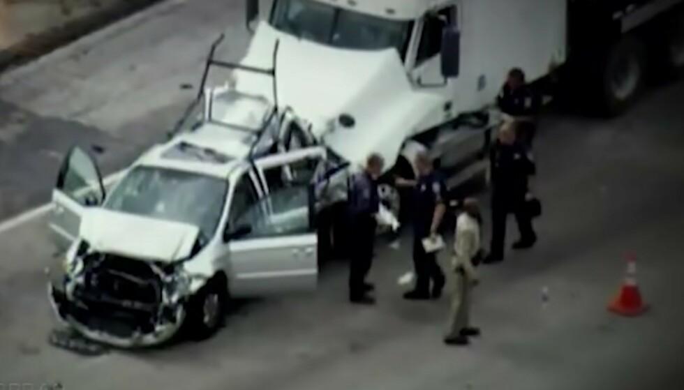 KATASTROFALT: Dette bildet er hentet fra nyhetsdekningen av ulykken i 2007. FOTO: Skjermdump via YouTube @OWN