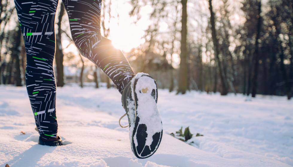 GÅ TUR: Fysisk aktivitet er bra for helsa di, selv om det ikke er snakk om blytunge intervaller. FOTO: NTB