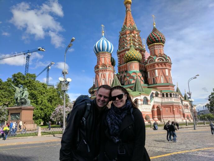 De første dagene i Moskva hadde vi tid til litt sightseeing. FOTO: Privat