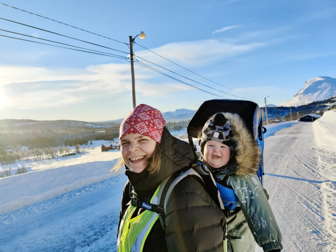 Hilmar og Else-Lill på Lykkja i Hemsedal, januar 2021. FOTO: Privat