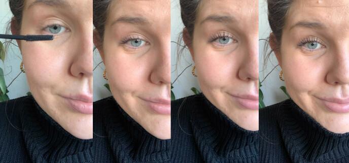 FRA START TIL SLUTT: Bildet til høyre viser hvordan resultatet ble etter tre «strøk». Foto: Privat