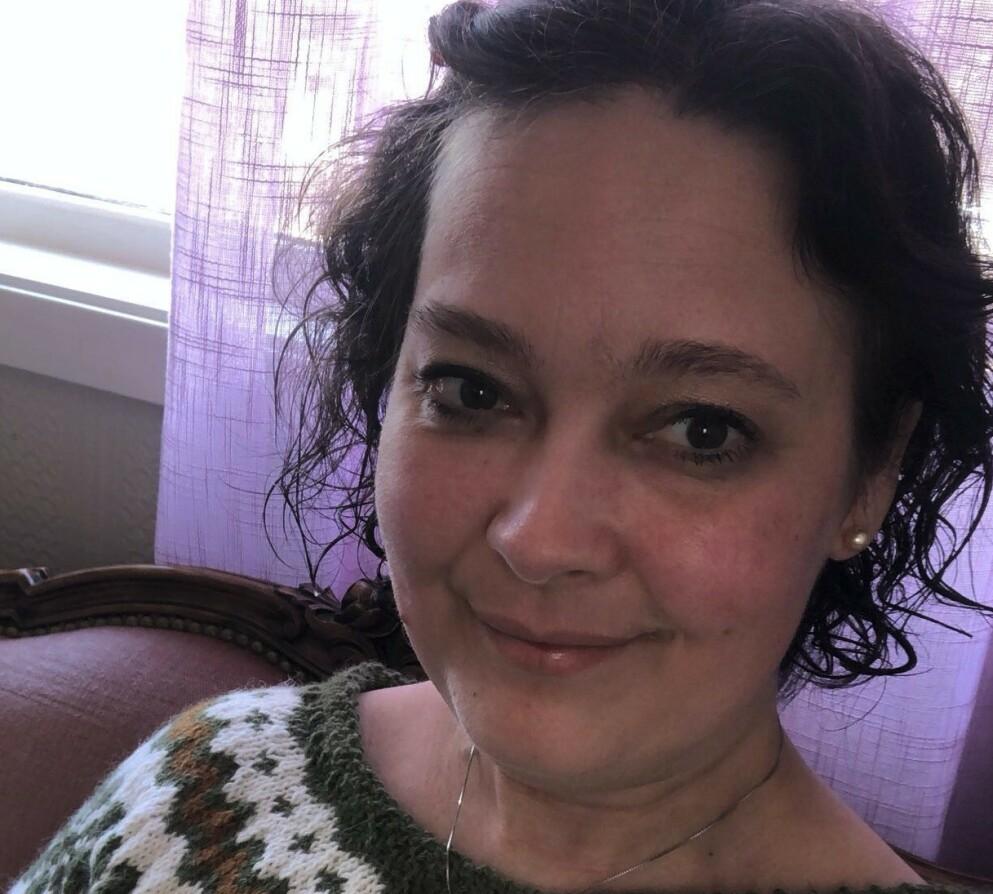 SLAG: For 1,5 år siden ble da 39 år gamle Ann-Monica rammet av slag mens hun lå i narkose. Hun hadde aldri trodd at det skulle skje henne. FOTO: Privat