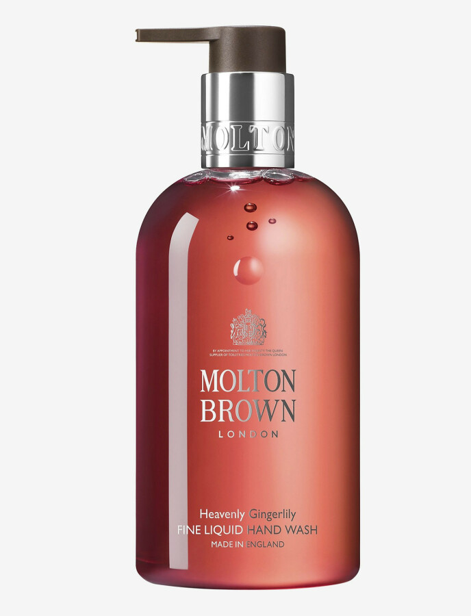 Heavenly Gingerlily Fine Liquid Hand Wash, 300 ml (kr 200, Molton Brown). FOTO: Produsenten