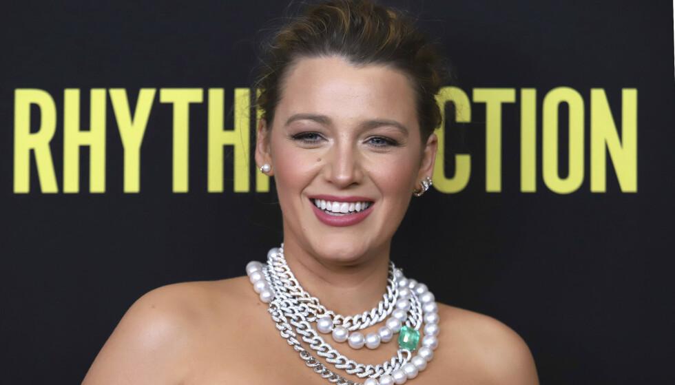 BLAKE LIVELY: Skuespilleren fødte sitt tredje barn i 2019. Foto: NTB
