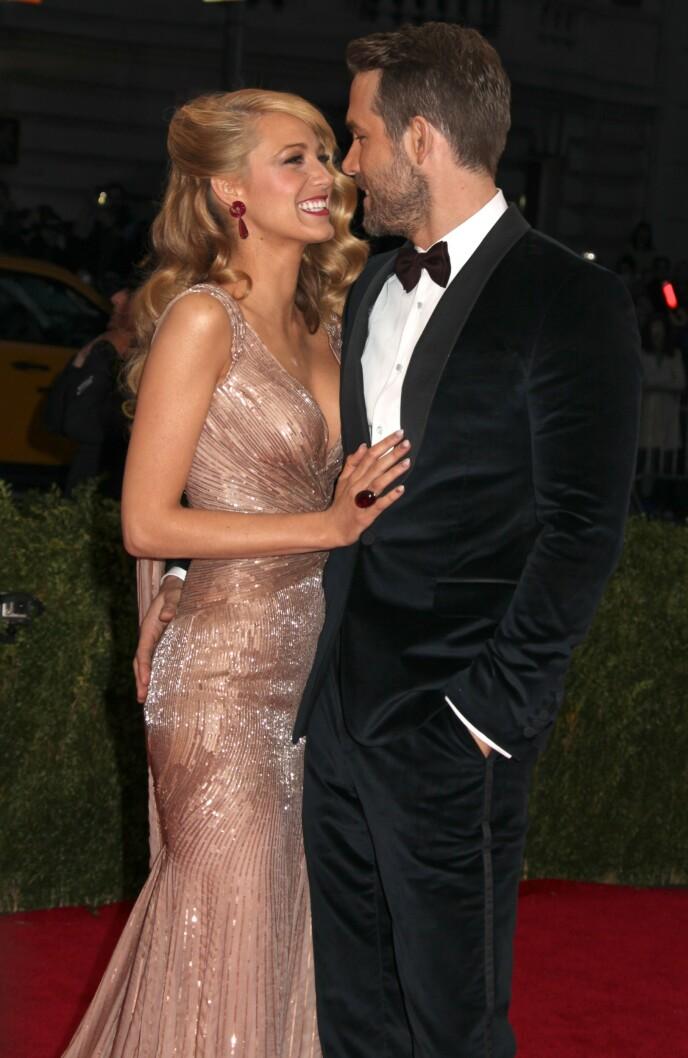 PENT PAR: Blake Lively og Ryan Reynolds. Foto: NTB