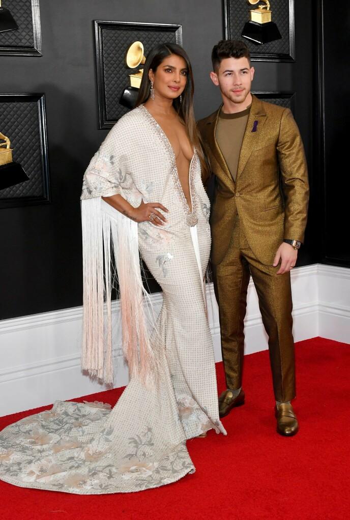GIFT: I 2018 giftet skuespilleren seg med artisten Nick Jonas. Foto: NTB