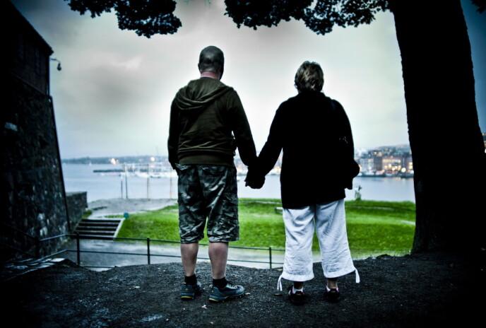 MOR OG STEFAR: Dette bildet av Christoffers mor og stefar ble tatt i 2009. FOTO: Thomas Rasmus Skaug / Dagbladet