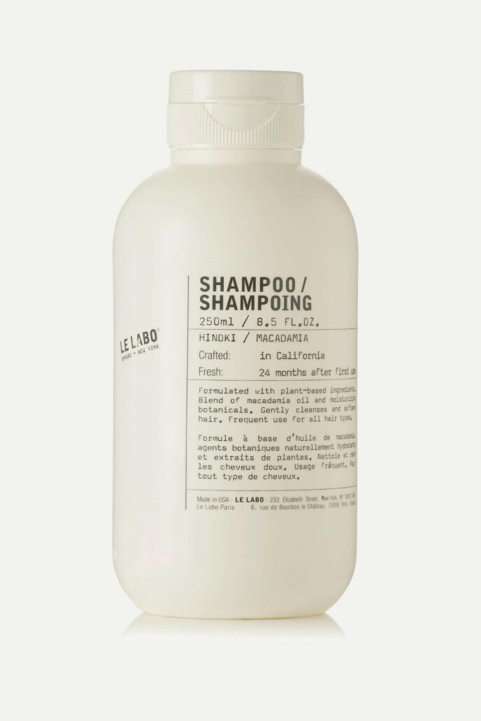 Hinoki Shampoo (kr 260, Le Labo). FOTO: Produsenten