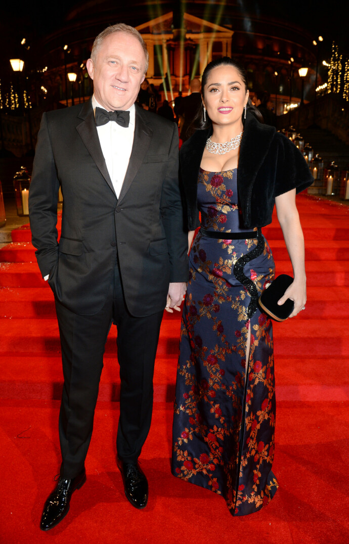 PENT PAR: Salma og mannen Francois-Henri Pinault på The Fashion Awards i 2016 på Royal Albert Hall i London. FOTO: NTB