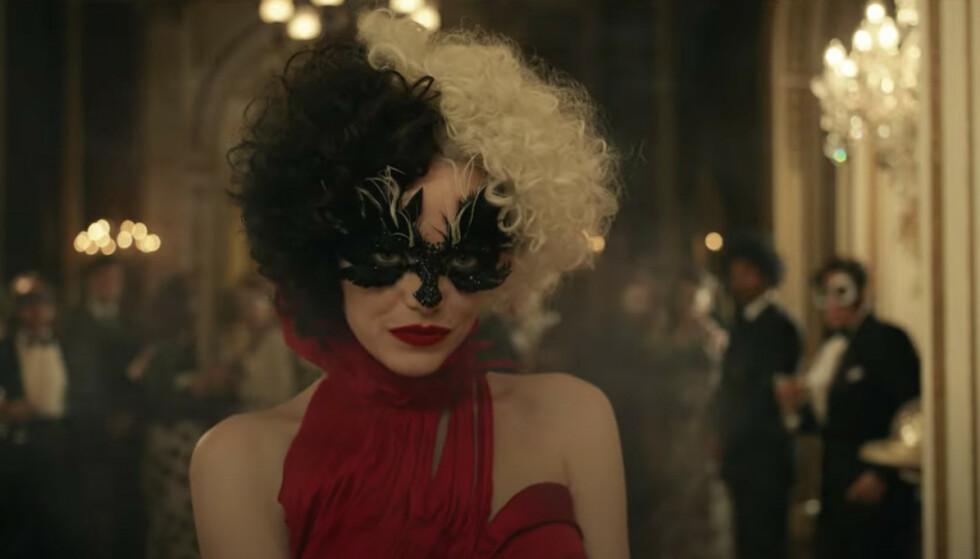 EMMA STONE: Den amerikanske skuespilleren har kapret rollen som den britiske Disney-skurken Cruella. Foto: Disney