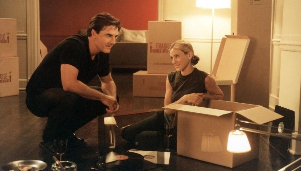 SEX OG SINGELLIV: Vi trodde Carrie og Mr. Big var meant to be - men den gang ei? Bildet er hentet fra originalserien. FOTO: HBO