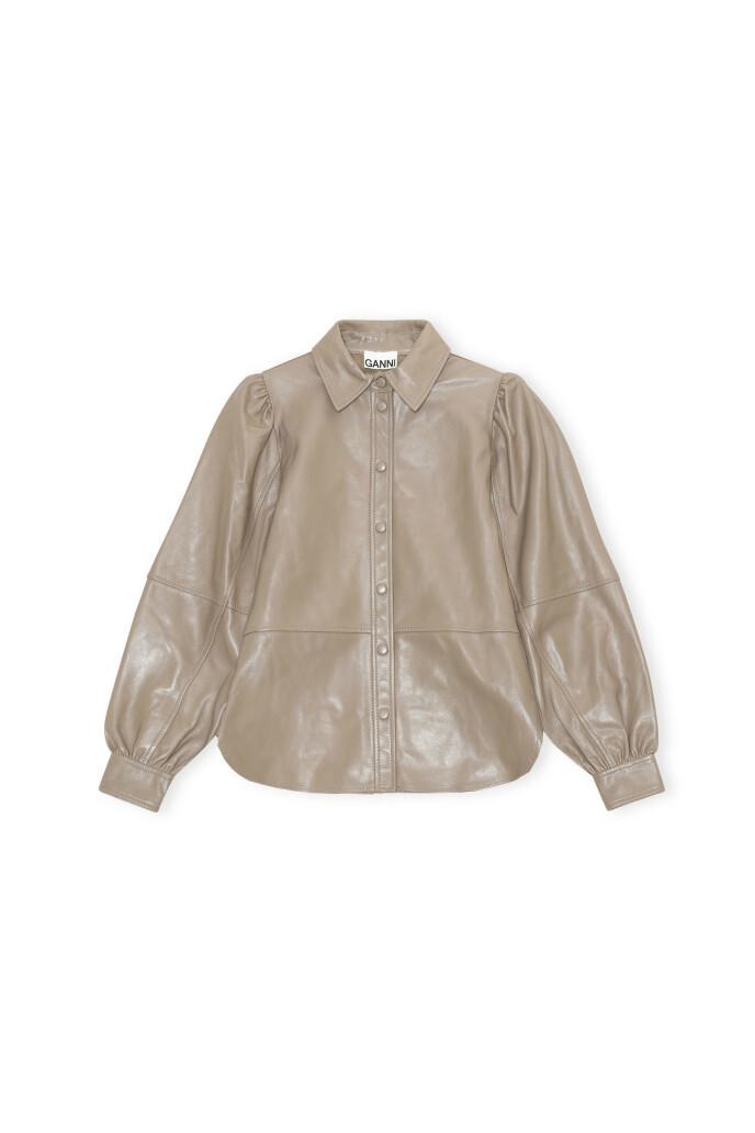 Skjorte med puffermer (kr 4995, Ganni).