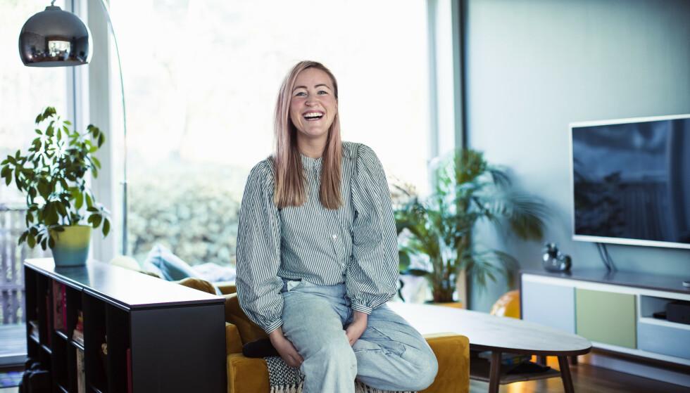 KK-spaltist Stine Hartmann spør hvorfor kvinner skal bli utsatt for et slags offentlig sexpress før man har sluttet å blø etter fødsel. FOTO: Astrid Waller