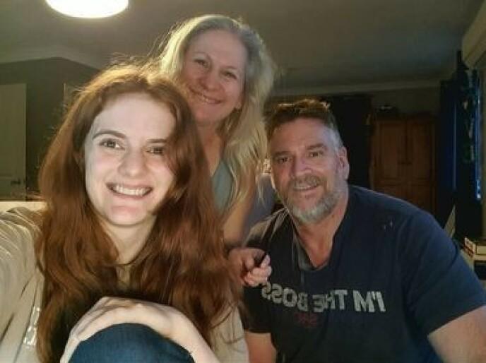 FAMILIEN: Craig og Trudy har datteren Emily (foran) sammen. Foto: Privat