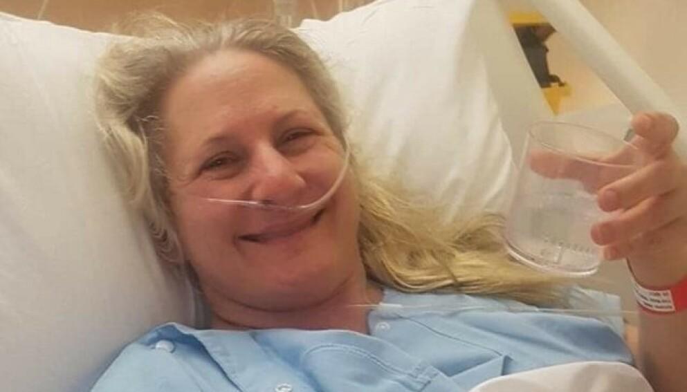 ULYKKESFUGL: Trudy Vains fra Australia har vært i seks bilulykker i løpet av sitt 45 år lange liv. Foto: Privat