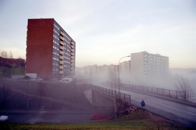 SISTE OBSERVASJON: Det var her i bydelen Fjell i Drammen at Therese bodde. Det var også her hun sist ble sett, etter å ha kjøpt godterier.