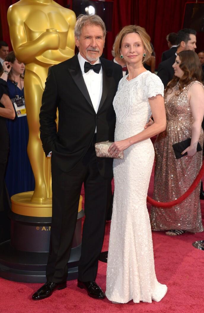 GIFT: Calista Flockhart er gift med Indiana Jones-stjerne Harrison Ford. Foto: NTB