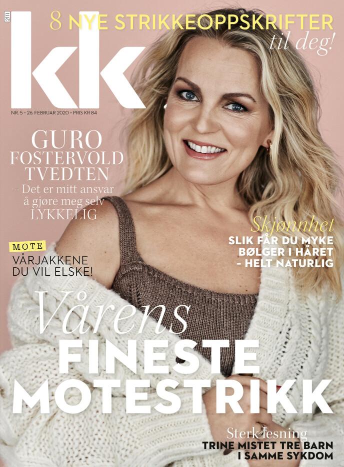 I SALG NÅ: Fra 26. februar til 12. mars står en ny KK-utgave med Guro Fostervold Tvedten på forsiden i bladhylla i butikkene. Foto: Truls Qvale for KK