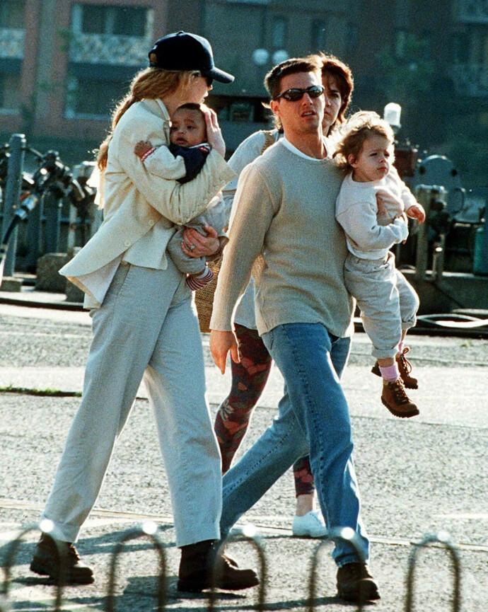 ANDRE TIDER: Nicole Kidman og Tom Cruise i 1995, sammen med adoptivbarna Connor og Isabella. FOTO: NTB